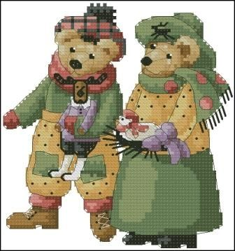 Dimensions 00290 Bear Pair